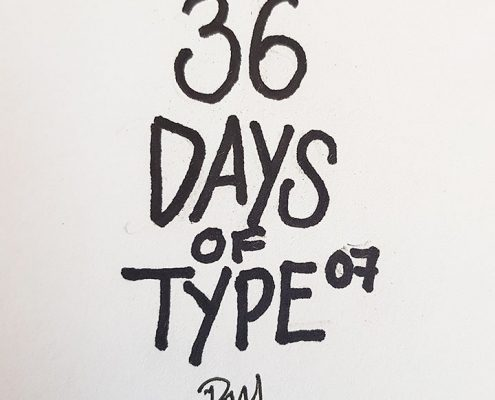 36 DAYS OF TYPE 07 cover
